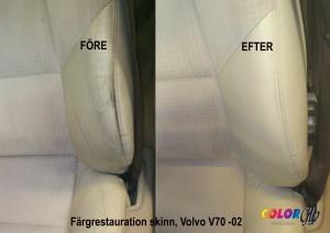 Läder som restaureras